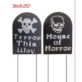 144 Units of Tombstone Yard Stick Halloween - Halloween & Thanksgiving
