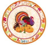 96 Units of Paper Plate Eight Count Nine Inch - Halloween & Thanksgiving