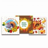 120 Units of Twenty Count Thanksgiving Napkin - Halloween & Thanksgiving