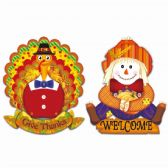 96 Units of Thanksgiving Hanging Jointed Cutout - Halloween & Thanksgiving