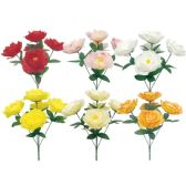 96 Units of Flower Assorted Color - Artificial Flowers