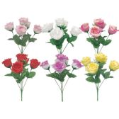 144 Units of Roses Flower Assorted Colors - Artificial Flowers