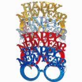96 Units of Happy New Year Glasses - Artificial Flowers