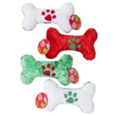 36 Units of Dog Toy Christmas Chenille Bone - Christmas Novelties
