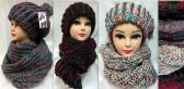 24 Units of Knitted Winter hat and scarf Set Assorted - Winter Sets Scarves , Hats & Gloves