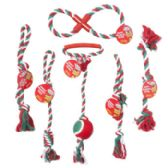 60 Units of Dog Toy Christmas Rope Chews - Christmas Novelties