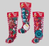 32 Units of Christmas Dog toy Stocking - Christmas Novelties