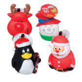 56 Units of Christmas Dog Vinyl toys - Christmas Novelties