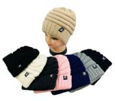 36 Units of Chunky Knit Soft Stretch Beanie - Winter Beanie Hats