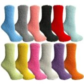 Wholesale Bulk Womens Cumfy Fuzzy Warm Cabin Socks (12 Pack Assorted) - Store