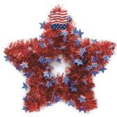 36 Units of July Fourth Tinsel Decoration - 4th Of July