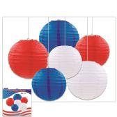 24 Units of July Fourth Lantern Set - 4th Of July