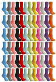 60 Units of SOCKSNBULK Womens Solid Colored Fuzzy Socks (60 Pack Assorted) - Womens Fuzzy Socks