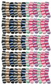 60 Pairs of excell Women's Striped Fuzzy Socks, Gripper Bottom, Sock Size 4-6 - Girls Crew Socks