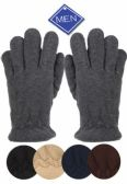 24 Units of MEN'S THERMAL FLEECE GLOVE - Fleece Gloves