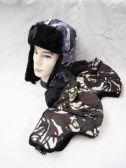 36 Units of Winter Camo Print Pilot Hat - Winter Helmet Hats