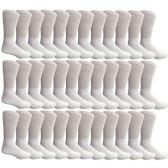 36 Units of SOCKSNBULK Mens Cotton Diabetic Non-Binding Crew Socks Size 10-13 White - Men's Diabetic Socks