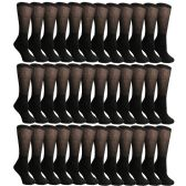 36 Pairs of Cotton Diabetic Non-Binding Crew Socks (9-11) by Yacht & Smith - Women's Diabetic Socks