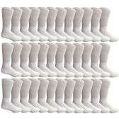 36 Units of SOCKSNBULK Mens King Size Diabetic Crew Socks, White, Size 13-16 - Big And Tall Mens Diabetic Socks