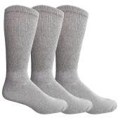 3 Pairs of Multi Pack Diabetic Cotton Crew Socks Soft Non-Binding Comfort Socks (10-13) - Men's Diabetic Socks