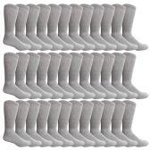 36 Pairs of Cotton Diabetic Non-Binding Crew Socks (10-13) - Men's Diabetic Socks