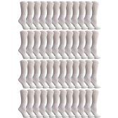 48 Pairs of Cotton Diabetic Non-Binding Crew Socks (9-11) by Yacht & Smith - Women's Diabetic Socks