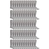 60 Pairs of Cotton Diabetic Non-Binding Crew Socks (10-13) - Men's Diabetic Socks