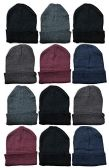 12 Pairs Value Pack excell Fleece Hats, Unisex Headwear (12 Pack Assorted) - Winter Beanie Hats