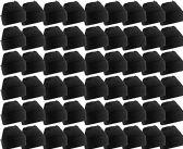 48 Pack Case Mens Womens Warm Winter Hats Wholesale Bulk, Unisex, by WSD (Black) - Winter Beanie Hats
