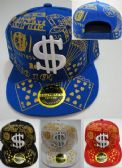 24 Units of Snap Back Flat Bill Hat [Glitter Cards & Dice] - Baseball Caps & Snap Backs