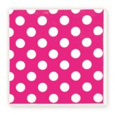 144 Units of Luncheon Napkin Hot Pink Polka Dot - Party Paper Goods