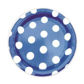 144 Units of Seven Inch Eight Count Plate Dark Blue - Party Paper Goods