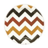 144 Units of Seven Inch Eight Count Plate Brown Wave Plate - Party Paper Goods