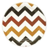 144 Units of Nine Inch Eight Count Plate Brown Wave Plate - Party Paper Goods