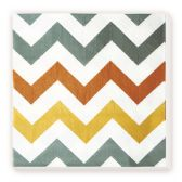 144 Units of Lunch Napkin Brown Wave Design - Party Paper Goods