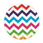 144 Units of Seven Inch Eight Count Plate Rainbow Wave Design - Party Paper Goods