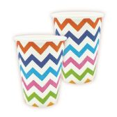 144 Units of Nine Ounce Cup Rainbow Wave Design - Party Paper Goods