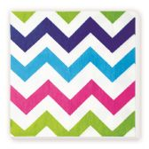 144 Units of Luncheon Napkin Rainbow Wave Design - Party Paper Goods
