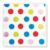 144 Units of Luncheon Napkin Colorful Polka Dot - Party Paper Goods
