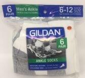 30 Units of 6 Pairs Men's Uncle Socks - Mens Ankle Sock