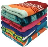 """36 Units of 27"""" x 60"""" - 100% Cotton Beach Towels - Assorted - Beach Towels"""
