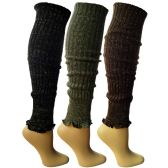 Womens Warm Winter Leg Warmers, Soft Colorful and Trendy (3 Pack B) - Womens Leg Warmers