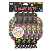 96 Units of Birthday Blowout Eight Count - Party Favors