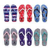 96 Units of Women's Assorted Print Flip Flops - Women's Flip Flops