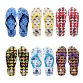 96 Units of Women's Assorted Emoji Print Flip Flops - Women's Flip Flops