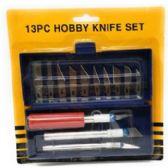 72 Units of 13pcs Assorted Standard Hobby Knife set - Tool Sets