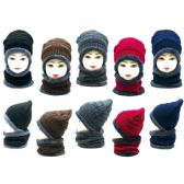 36 Units of Winter Beanie Hat set with Fur Lining - Winter Beanie Hats