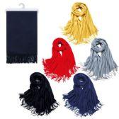 36 Units of Ladies Winter Silk Alike Scarf - Winter Scarves