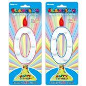 144 Units of Number Zero Led Candle - Birthday Candles