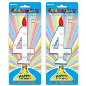 144 Units of Number Four Led Candle - Birthday Candles